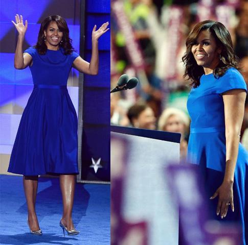 Michelle Obama com vestido criado por Christian Siriano || Créditos: Reprodução Instagram