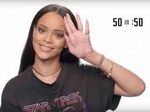 Rihanna grava vídeo em homenagem aos 50 anos de 'Star Trek'