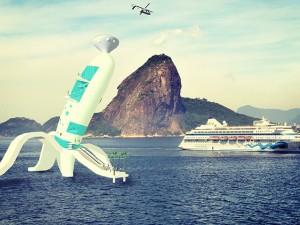 Artista plástico cria hotel em cima da água na Baía de Guanabara