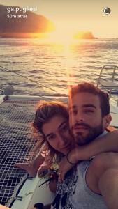 Gabriela Pugliesi é pedida em casamento pelo namorado na Grécia