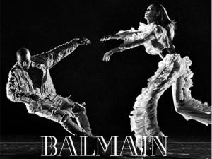 Kanye West estrela nova campanha da Balmain, mas desta vez sem Kim
