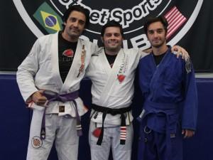Faixa preta em jiu jitsu, João Paulo Bertuccelli treina ator americano na Califórnia