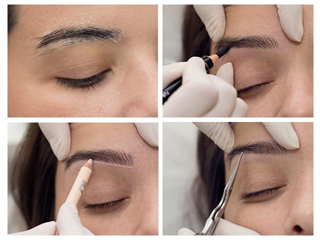 Primeiro passo: como chegar ao desenho ideal para o seu rosto  ||  Créditos: Beatriz Chicca