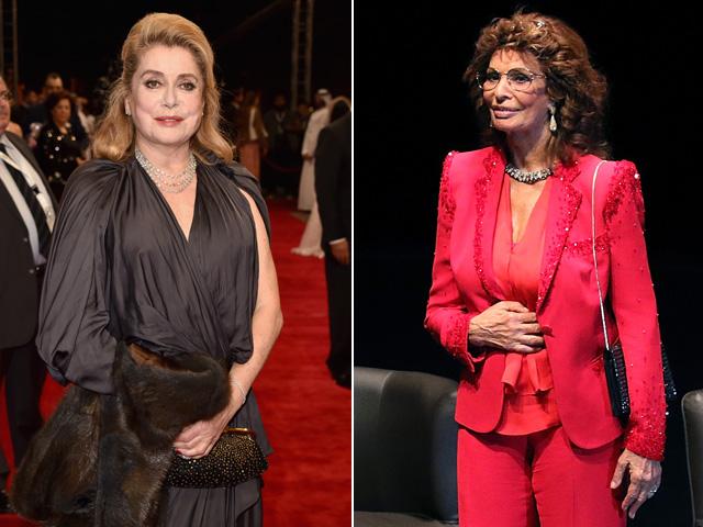 Catherine Deneuve e Sophia Loren