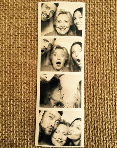 Sessão de fotos do casal com Hillary Clinton || Créditos: Reprodução Instagram