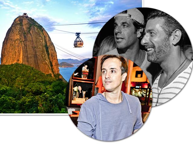 Álvaro Garnero, Kako Perroy e Jeffrey Jah em comemorações olímpicas no Rio