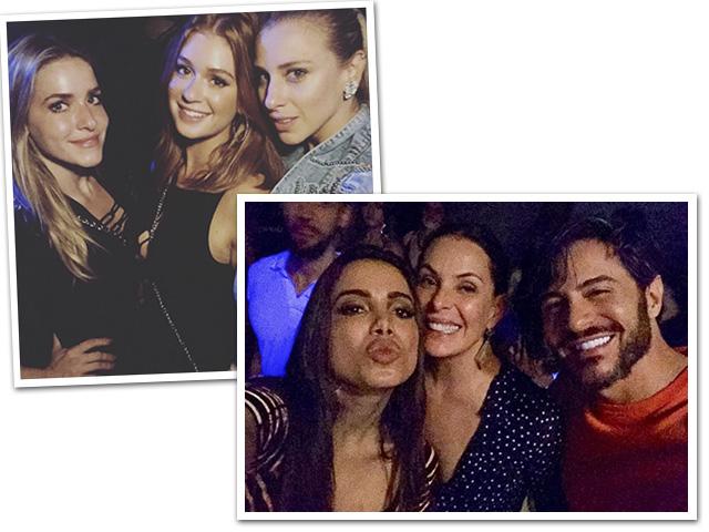 Monique Alfradique, Marina Ruy Barbosa, Lethicia Bronstein, Anitta, Carolina Ferraz e Ricardo Tozzi, na festa da cantora || Créditos: Reprodução Instagram