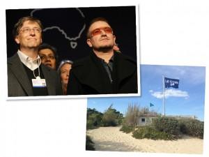 Bill Gates e Bono são vistos almoçando juntos em Saint-Tropez