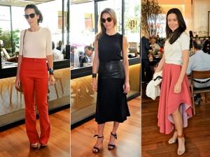 Produções minimalistas dominam as escolhas das bem vestidas da semana