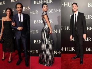"""Rodrigo Santoro, Jack Huston e mais na première de """"Ben-Hur"""" em LA"""