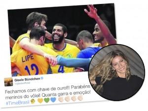 Ex-jogadora de vôlei, Gisele Bündchen homenageia seleção no Twitter