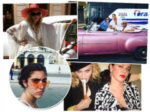 Um resumo da viagem de Madonna que mexeu com a vida dos cubanos nesta semana