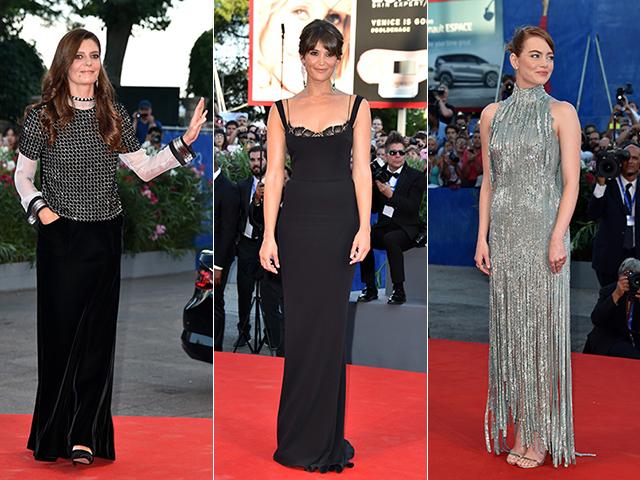 Chiara Mastroianni, Gemma Arterton e Emma Stone || Créditos: Getty Images