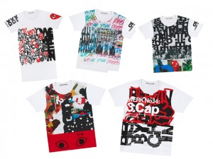 Comme des Garçons lança linha de camisetas para colorir o cotidiano