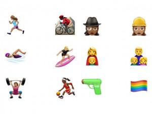 Apple divulga novos emojis que vão de arminhas de água a arco-íris