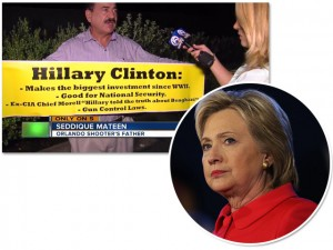 Pai de atirador da boate de Orlando vai a comício de Hillary Clinton