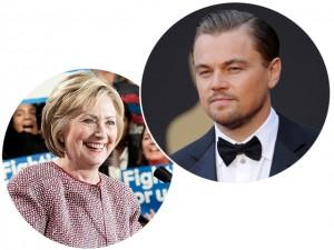 DiCaprio se senta à mesa com Hillary em jantar que vai custar R$ 108 mil