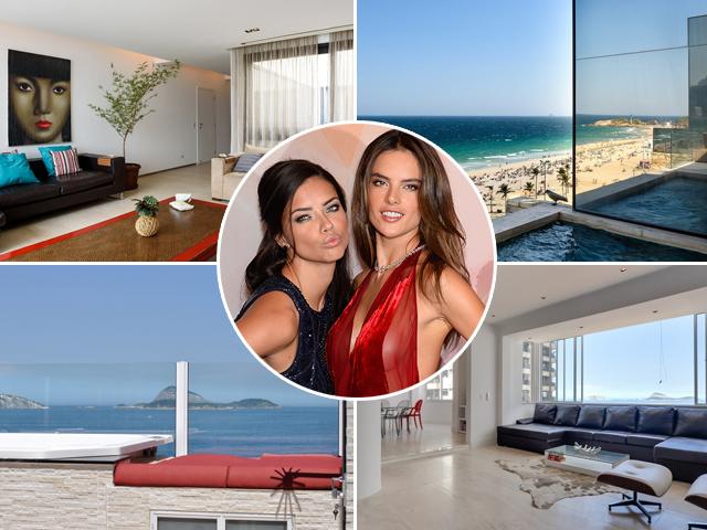 Adriana Lima e Alessandra Ambrósio se hospedam em coberturas  do Airbnb no Rio    Créditos: Divulgação