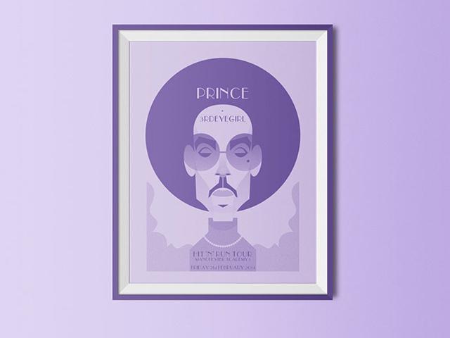 Ilustrações e desenhos inspirados na vida e obra de Prince serão vendidos a partir de 5 libras