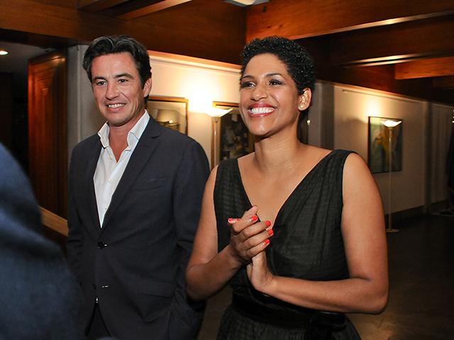 Damien Loras e a mulher Alexandra Loras