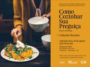 Chef Gabriela Barreto lança seu primeiro livro