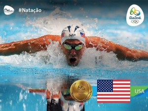 Michael Phelps leva 21ª medalha de ouro e corre pro abraço em família