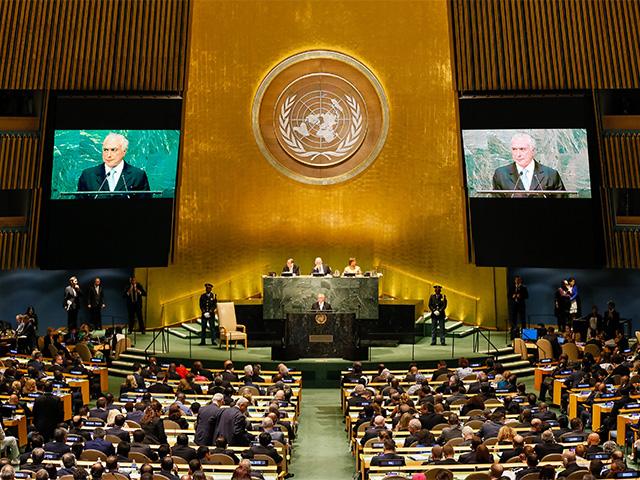 Presidente Michel Temer durante abertura do Debate Geral da 71ª Assembleia Geral das Nações Unidas - ONU em Nova York|| Créditos: Beto Barata PR / Divulgação