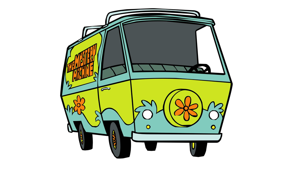 "A icônica The Mistery Machine de ""Scooby Doo"""