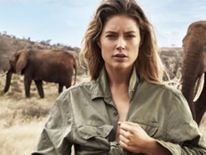 Doutzen Kroes e mais tops se unem para salvar elefantes de extinção