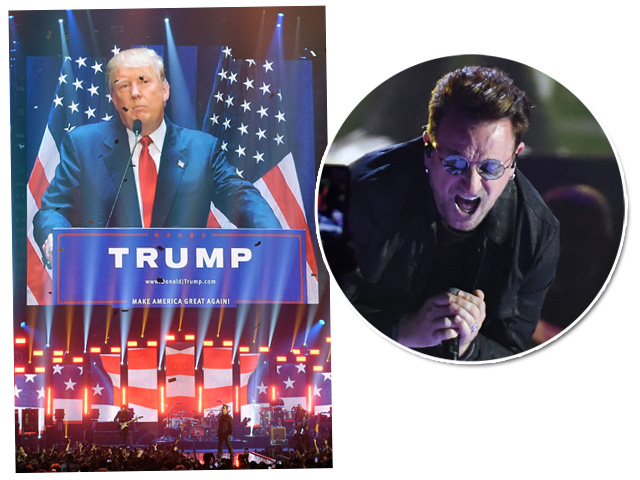 Donald Trump VS. Bono || Créditos: Getty Images