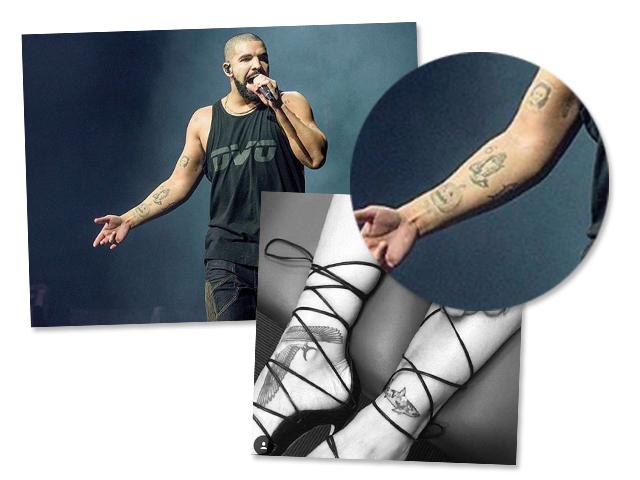 A tatugem em comum de Drake e Rihanna || Créditos: Reprodução Instagram