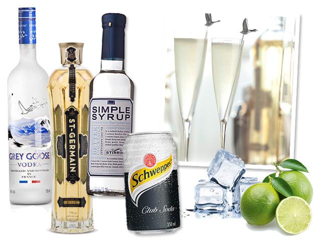 Vodka Grey Goose, limão espremido, licor Saint Germain, Simple Syrup, Club soda e gelo || Créditos: Divulgação