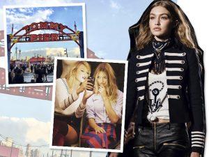 Tommy Hilfiger se une a Gigi Hadid e transforma desfile em parque de diversões