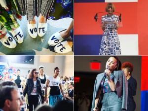 Campanha de Hillary ganha coleção coletiva de estilistas americanos