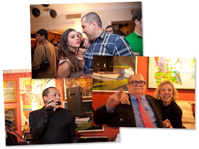 Janaina e Jefferson Rueda, Cesar Toledo Piza Jr. com Marília Gabriela e o estilista Walério Araújo: noite animada! || Créditos: Divulgação