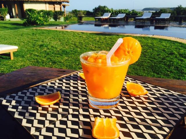 Caipirinha de tangerina da Pousada do Outeiro. De dar água na boca...    Crédito: Divulgação