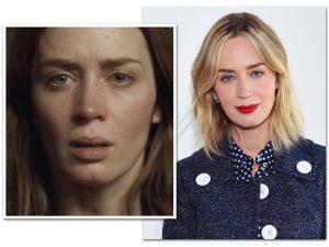 Emily Blunt usou maquiagem para parecer menos bonita em filme