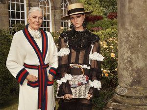 Gucci une punk à aristocracia inglesa com Vanessa Redgrave em campanha