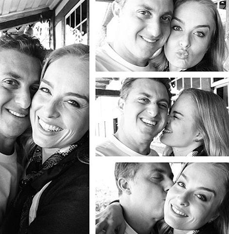 Angélica homenageou o marido com uma montagem de selfies no Instagram  ||  Crédito: Reprodução