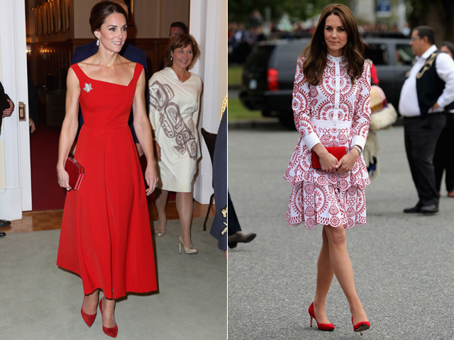 Looks usados por Kate Middleton no Canadá || Créditos: Getty Images