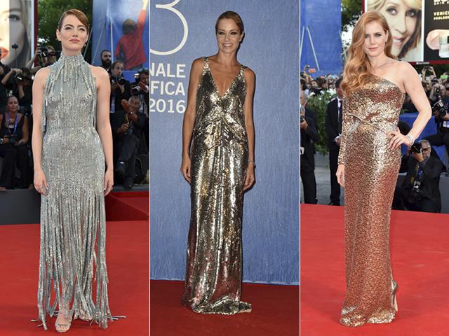 Emma Stone, Stefania Rocca e Amy Adams no Festival de Cinema de Cannes || Créditos: Getty Images