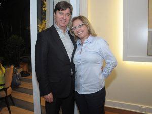 Newton Rocha e Blenda Marcelletti Oliveira em jantar para Orquesta Sinfônica do México