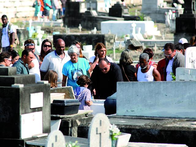 Enterro do Corpo da irm de Angela Bismarchi
