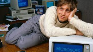 Gates em seu escritório, no início dos anos 1980 || Créditos: Getty Images