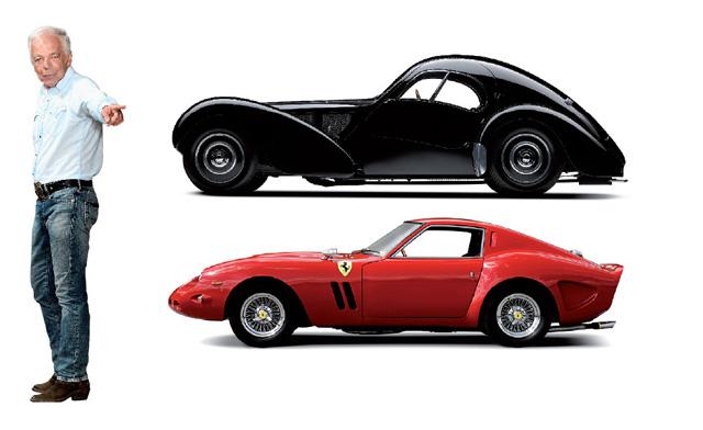 Ralph Lauren e sua garagem recheada de carros || Créditos: Divulgação; GETTY IMAGES