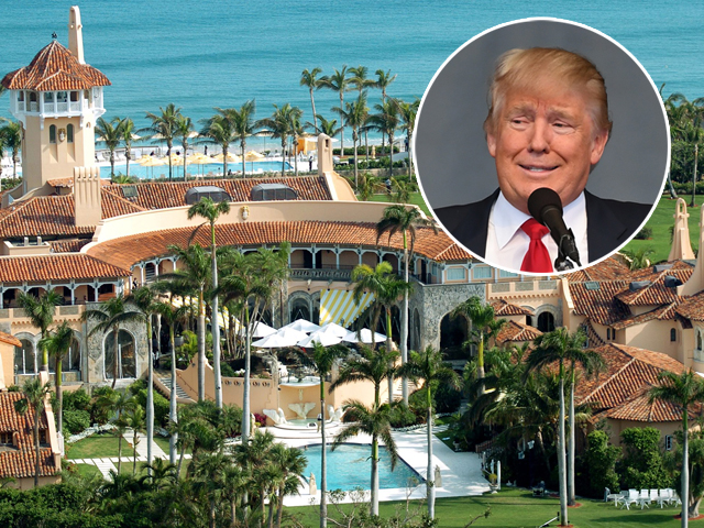 Donald Trump e a vila Mar-a-Lago, que fica em Palm Beach