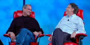 Steve Jobs e Bill Gates || Créditos: Getty Images