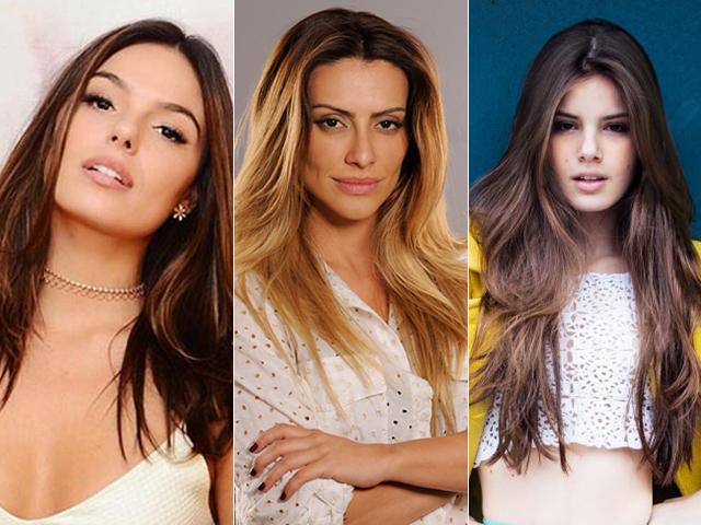 Isis Valverde, Cleo Pires e Camila Queiroz não abrem mão do cabelão liso || Créditos: Reprodução Facebook