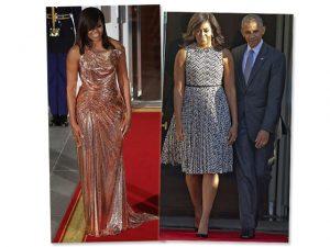 Michelle Obama homenageia o made in Italy em dois momentos fashion