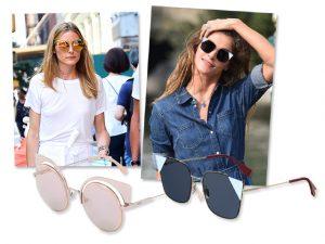 Pelas lentes de Olivia Palermo e Elisa Sednaoui, os óculos de sol da temporada!
